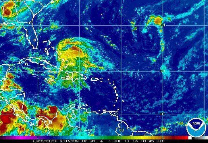 Chantal llegó a ser tormenta tropical, pero se ha degradado en el Caribe. (ssd.noaa.gov)