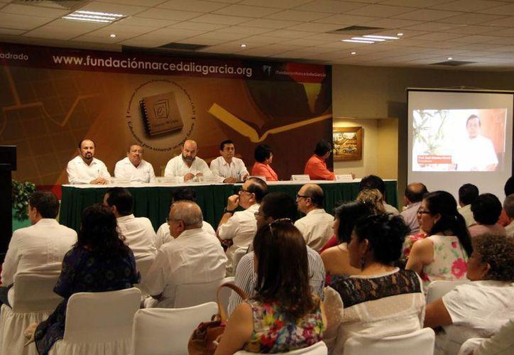 Presentación de la Fundación Profesora Narcedalia García Aguilar. (Milenio Novedades)