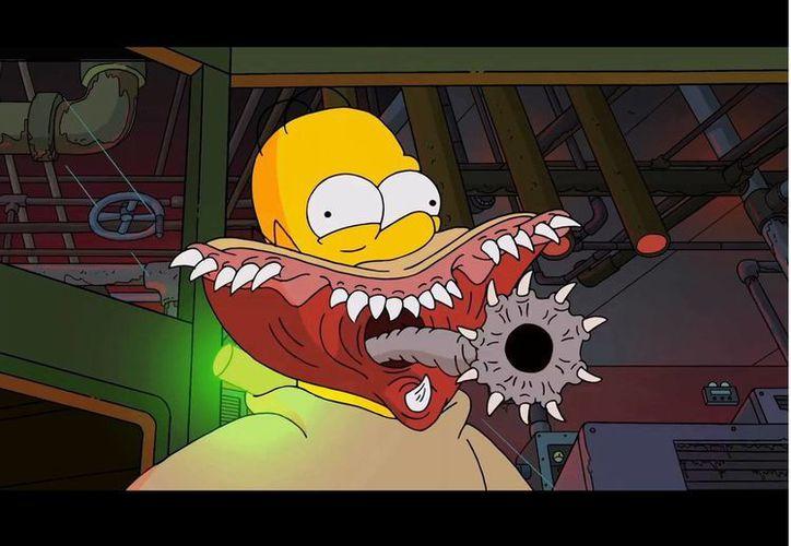 """Una colorida y """"terrorífica"""" entrada preparó Del Toro al capitulo de Halloween de Los Simpson. (YouTube)"""