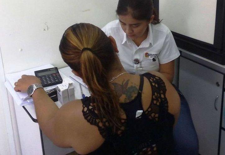 Las internas del Centro de Reinserción Social de Chetumal recibieron atención médica. (Redacción/SIPSE)