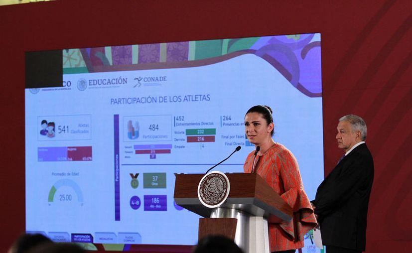 Ana Gabriela Guevara, titular de la Comisión Nacional de Cultura Física y Deporte (Conade). (Notimex)