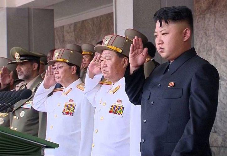 Los norcoreanos corearon 'Kim Jong-un, estamos listos para morir por ti '. (Agencias)