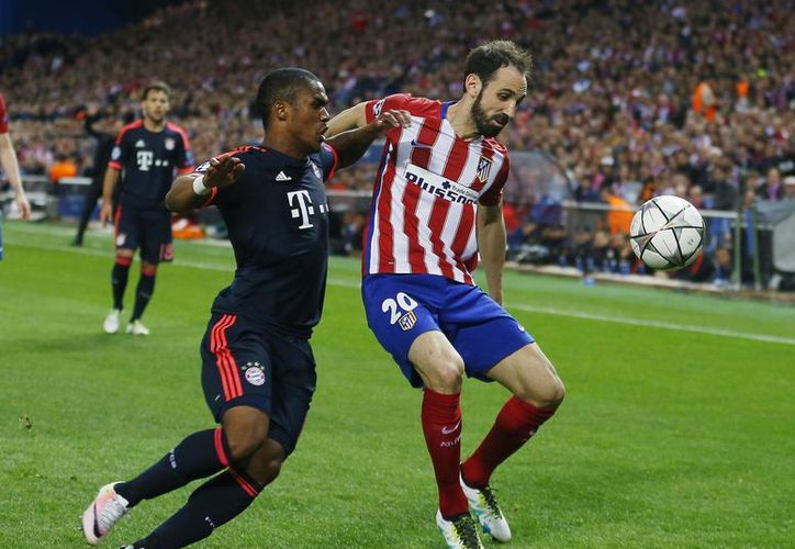 Bayern Múnich y Atlético brindaron un excelente primer partido. A pesar de la ventaja de los colchoneros, la llave no está definida aún. (AP)