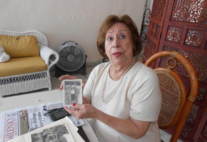 Lía Cámara Blum no está arrepentida de nada: ni de su corto amor por Fidel Castro Ruz, ni de su casi novelesca historia con otro cubano: Alberto Sarioli. (Eduardo Vargas/SIPSE)