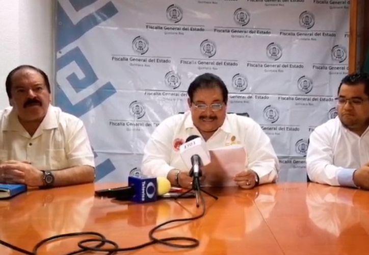 Miguel Angel Pech dio a conocer los avances del caso ocurrido el pasado martes. (Redacción/SIPSE)