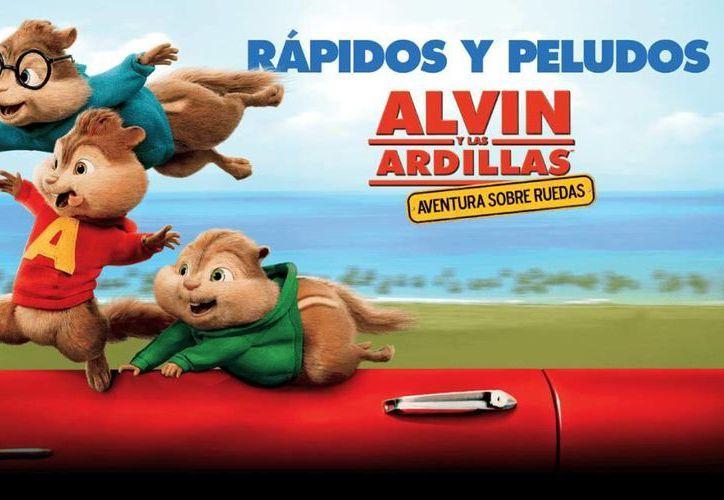 'Alvin y las ardillas: Aventura sobre ruedas' fue vista por más de 925 mil 351 personas en las salas del país del 1 al 3 de enero, colocándose como la más taquillera del 2016. (Imagen tomada de laprensa.hn)