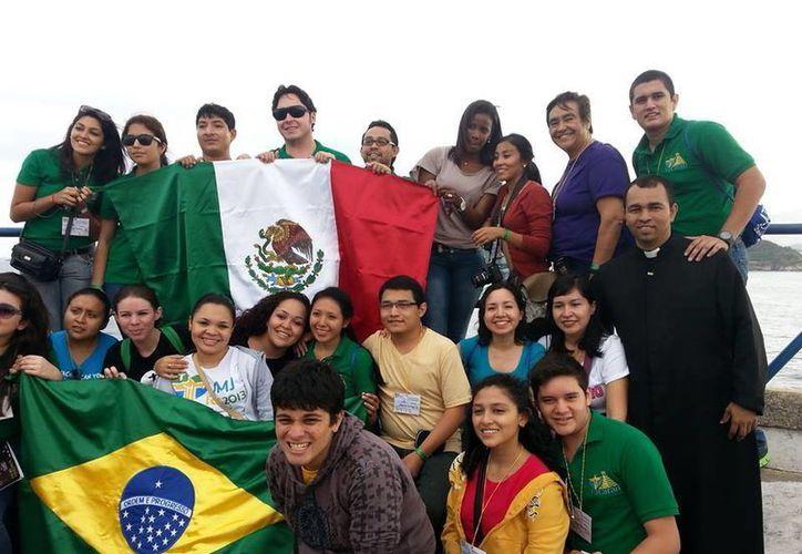 Delegación de Yucatán que viajó a la Jornada Mundial de la Juventud. (Milenio Novedades)