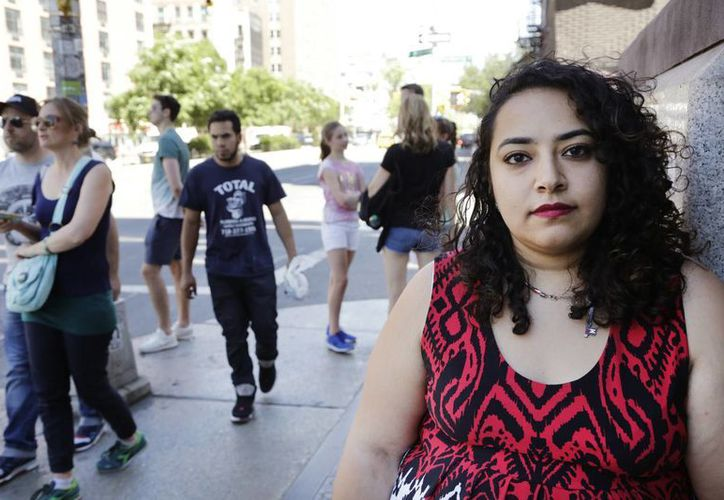 Eman Abdelhadi, una estudiante lesbiana de la Universidad de Nueva York, EU. (Agencias)