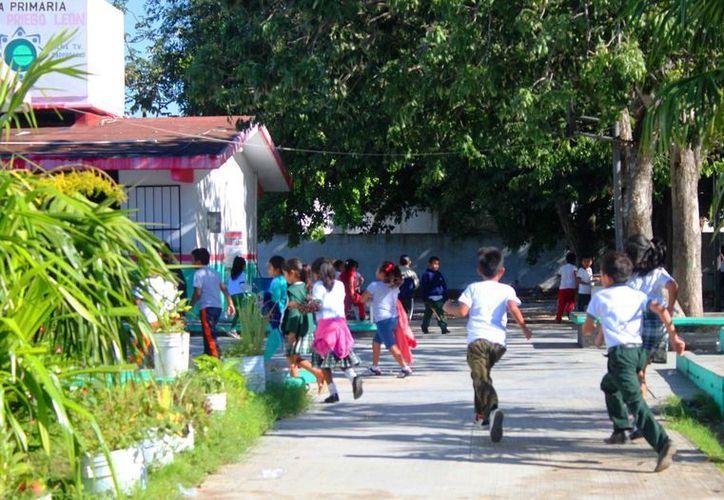 El 40% de los estudiantes se ausentaron en el primer día de clases después de las vacaciones de invierno en Solidaridad. (Daniel Pacheco/SIPSE)