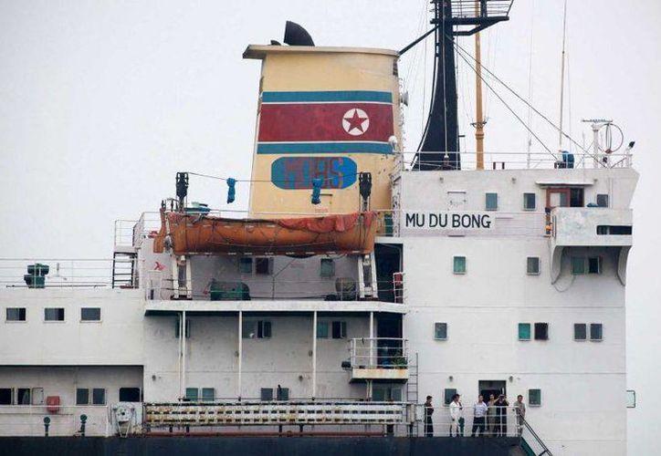 El buque Mu Du Bong se encuentra retenido en el puerto mexicano de Tuxpan, en Veracruz, debido a solicitud expresa de Naciones Unidas. (Archivo/AP)