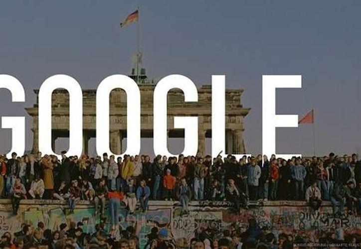 Google recuerda con un 'Doodle' la caída del Muro de Berlín, ocurrida la noche del 9 de noviembre de 1989. (Captura de pantalla/Google)