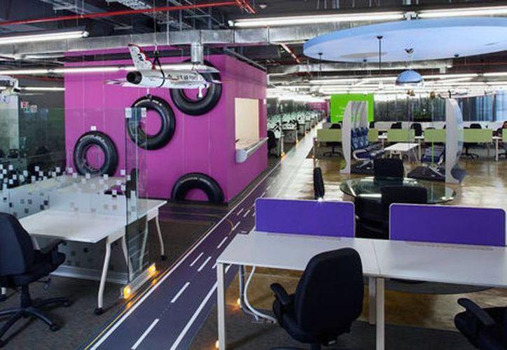 Imagen del interior de las oficias de Google creada por Space. (Space/Milenio)