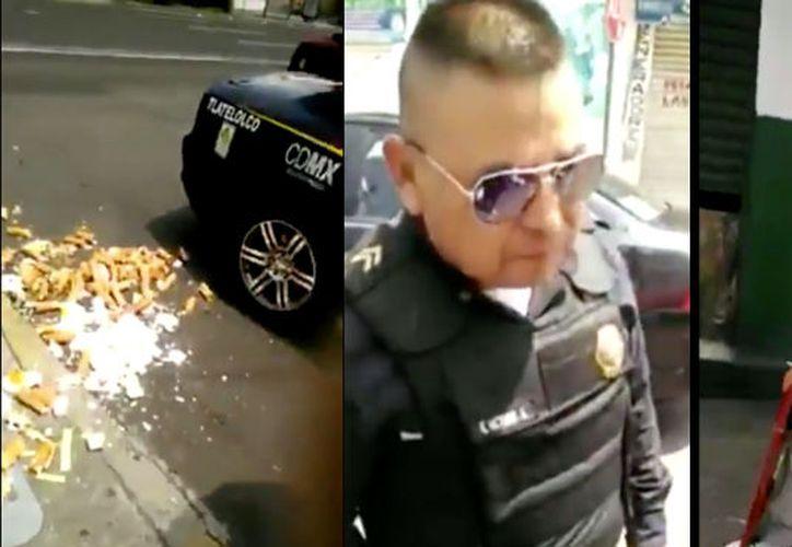 Un video, grabado en 2015, se volvió viralizar esta semana al ser tomado como reciente; en él se muestra a dos policías humillando a u vendedor de merengues.  (Sin Embargo)