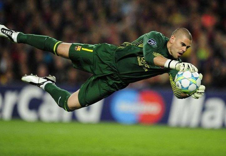 Valdés ha ganado dos títulos europeos con el Barcelona, pero el Mundial de 2010 no lo pudo ganar porque el portero fue Casillas. (91 minutos.com/Archivo)