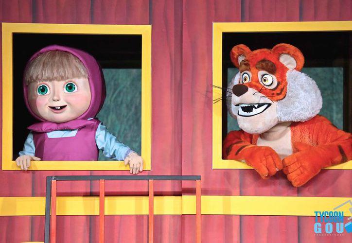 Los espectadores podrán disfrutar de la actuación de 'Masha y el oso' y otros animales. (Redacción)