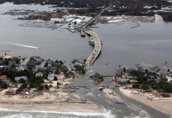 El huracán 'Sandy' devastó buena parte de la costa este de los Estados Unidos en 2012. (Archivo/AP)