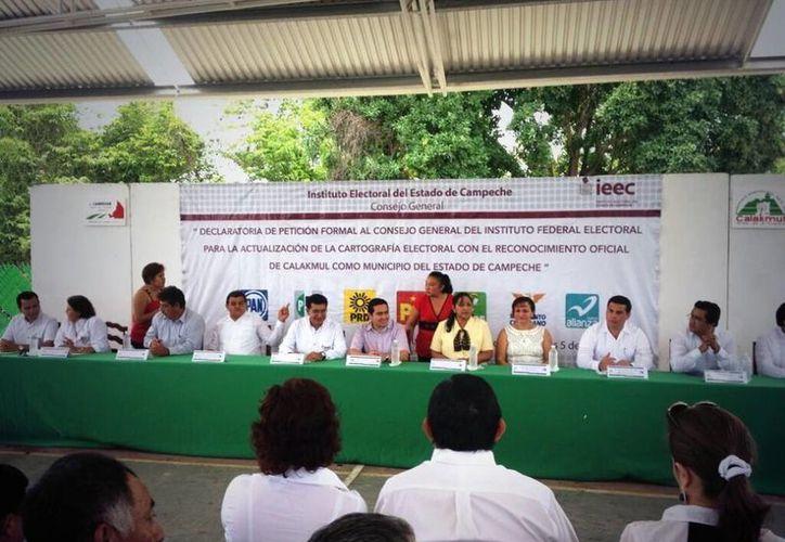 Los partidos se pronunciaron por una defensa sin confrontación. (@PRI_Campeche)