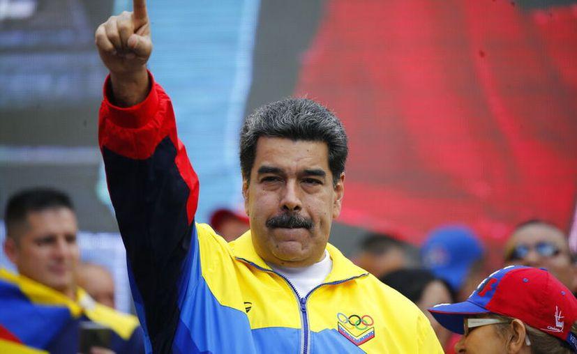 , Maduro encabezó la Jornada Mundial de Protesta contra el gobierno de Estados Unidos. (AP Photo/Ariana Cubillos)