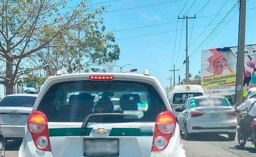El sindicato de taxistas reconoció que hay taxis piratas que son utilizados para delinquir. (Redacción/SIPSE)