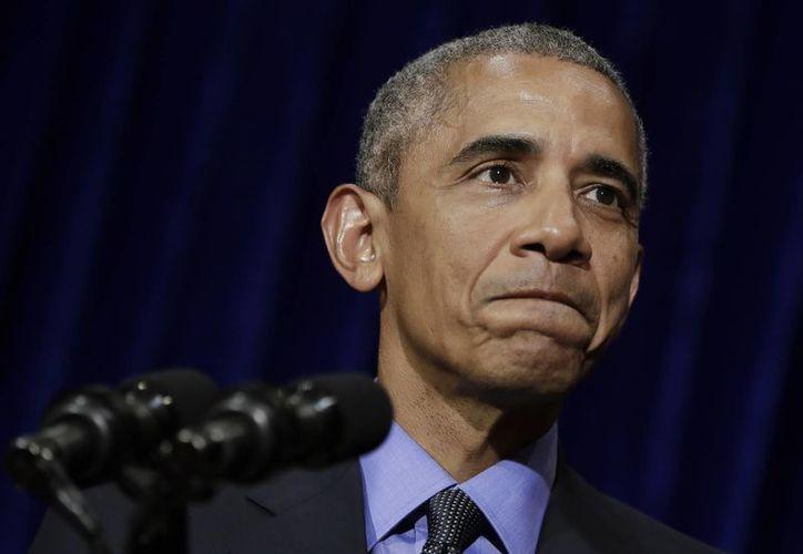 El presidente estadounidense Barack Obama habla en conferencia de prensa en Vientiane, Laos. (AP/Carolyn Kaster)