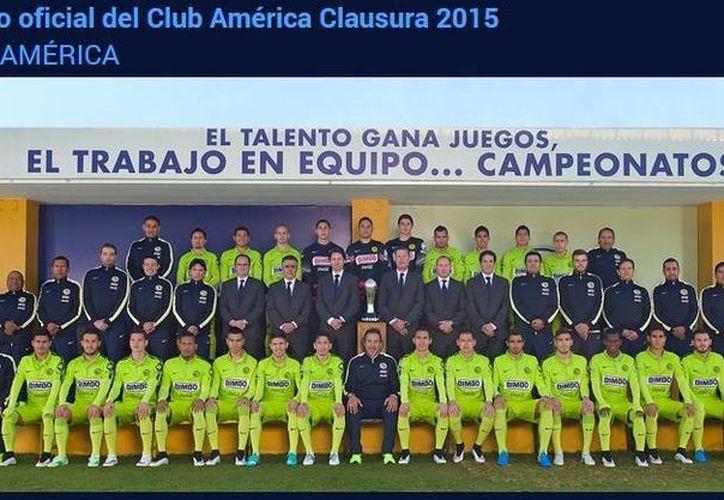 Esta imagen muestra a todos los integrantes de Águilas del América que participan en el actual torneo semestral de la Liga MX. (Captura de pantalla de clubamerica.com.mx)