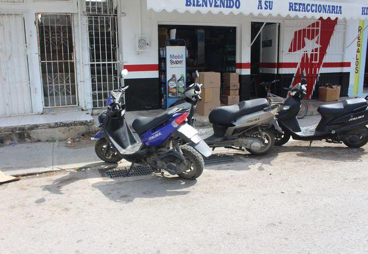 En el caso de la sustracción de motocicletas, el año pasado se tuvo un registro de diez; donde sí existe un aumento de más del 100% de robos es en automóviles. (José Chi/SIPSE)