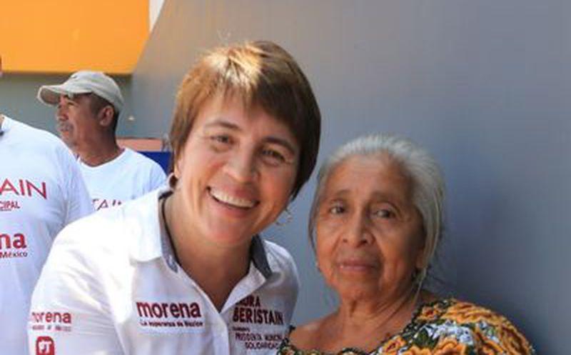 Los adultos mayores son una parte importante de la comunidad de Solidaridad, sostuvo la candidata Laura Beristain. (Foto: Redacción)