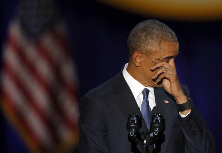 Barack Obama entregará su cargo el próximo 20 en una ceremonia oficial en Washington DC al presidente electo Donald Trump. (AP/Charles Rex Arbogast)