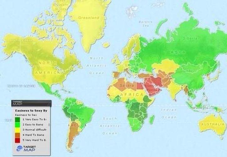 El mapa ha sido calificado de sexista por las mujeres. (Agencias)