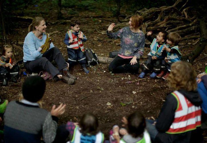 La maestra de primaria Emma Shaw es la fundadora de la escuela 'Into the woods', que permite a menores experimentar de una forma excepcional. (Foto: AP)