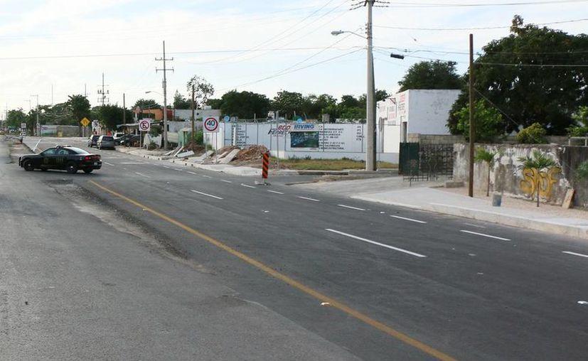 Imagen de la modernización en el periférico de Mérida. Gestionan 287 millones de pesos para modernizar 78.4 kilómetros de vialidades en el Estado. (Milenio Novedades)