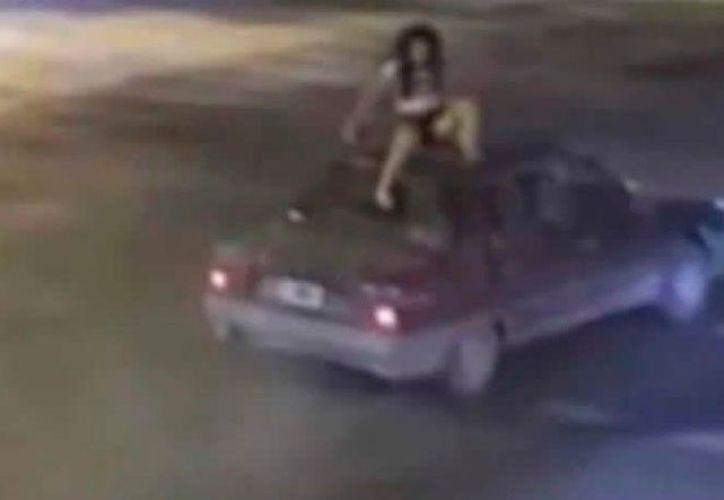 La joven prácticamente salió ilesa del accidente. (Internet)