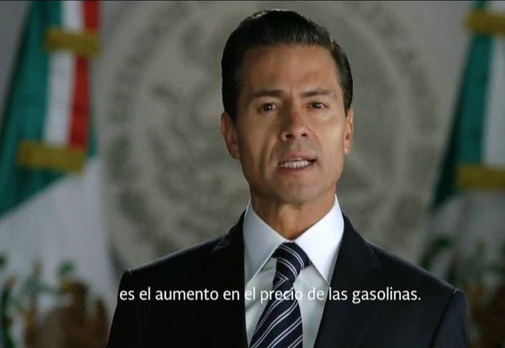 Peña Nieto asegura que el subsidio a las gasolinas hizo que se pierda mucho dinero. (Captura de pantalla)