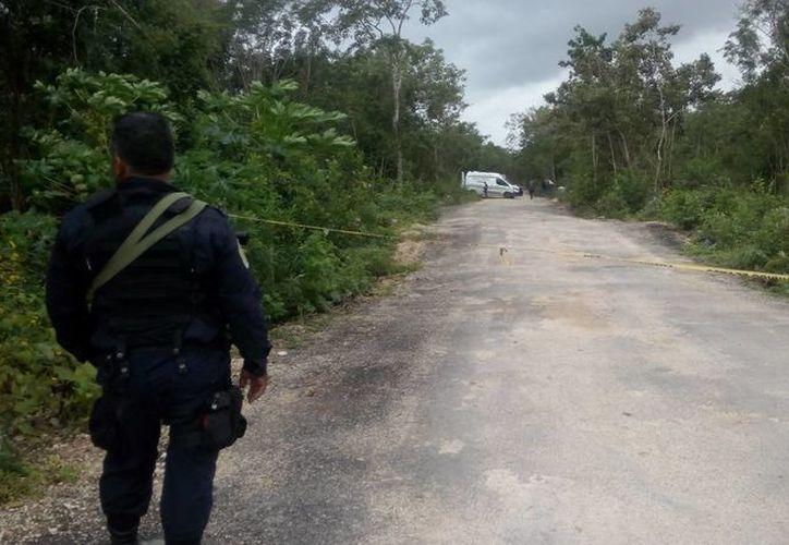 Las autoridades continúan con la búsqueda del resto del cuerpo. (Redacción/SIPSE)
