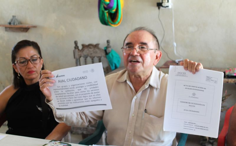 La presentación del documento fue encabezada por Raúl Santana Bastarrachea, presidente de dicha asociación. (Javier Ortiz/SIPSE)