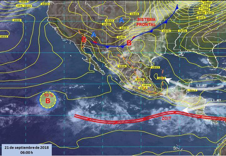 Durante el día de hoy se espera un cielo parcialmente cubierto, probabilidad de tormenta en Playa del Carmen. (Conagua)