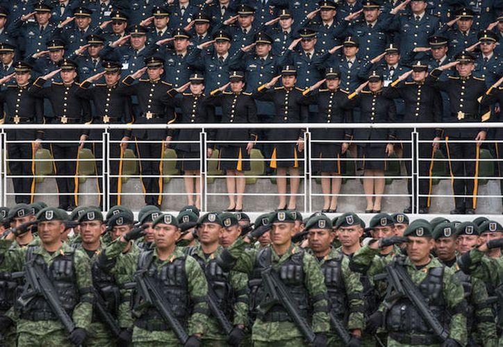 A pesar de que Amnistía Internacional advierte que la Guardia Nacional amenaza los derechos humanos, esta tarde fue aprobado el decreto en comisiones de la Cámara de Diputados. (Cuartoscuro)