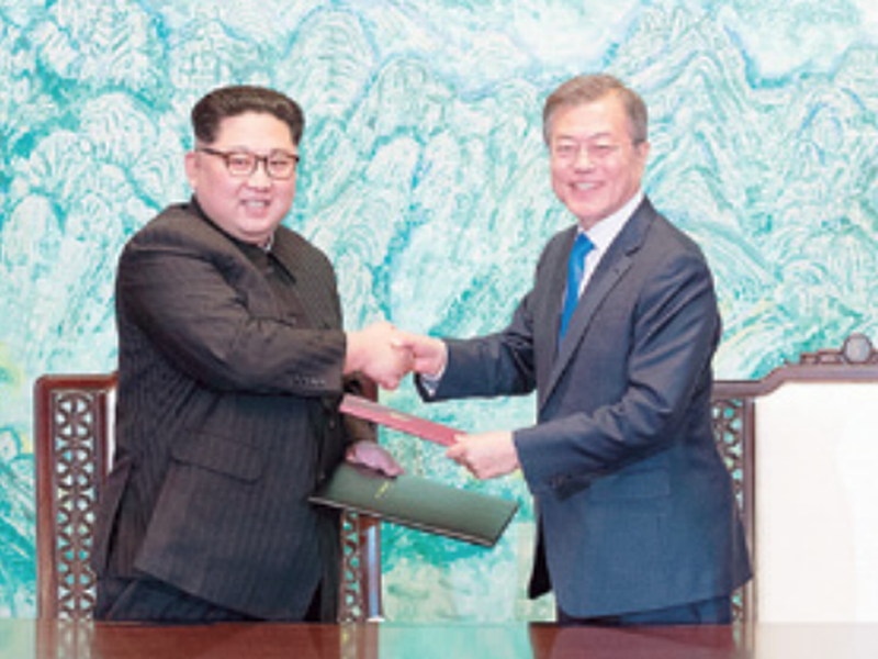 Kim Jong Un promised to sync his country's time zone with he South's during his April 27 talks with South Korean President Moon Jae-in. (AP)