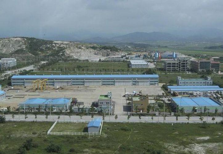 Panorámica del complejo industrial de Kaesong en Corea del Norte. (EFE)