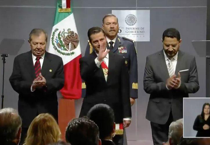 Peña Nieto, llega al VI Informe de Gobierno. (Redacción)