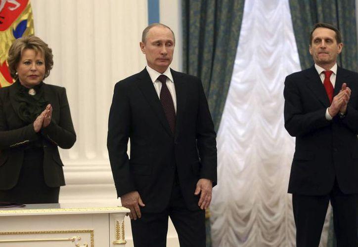El presidente de Rusia, Vladimir Putin, defendió  la legitimidad de la intervención rusa en Siria al ser solicitada por las autoridades de Damasco. (Archivo/EFE)