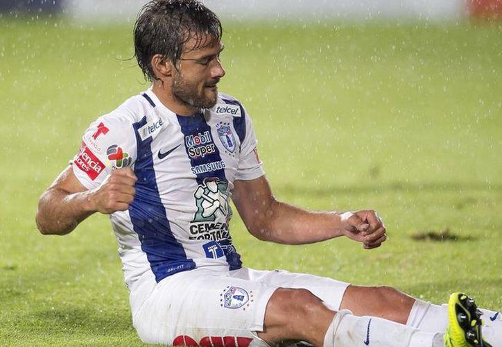 Darío Cvitanich, quien no participó con su club Pachuca en el Apertura 2015 debido a una lesión, fue dado de baja este jueves por común acuerdo con la directiva. (Mexsport)