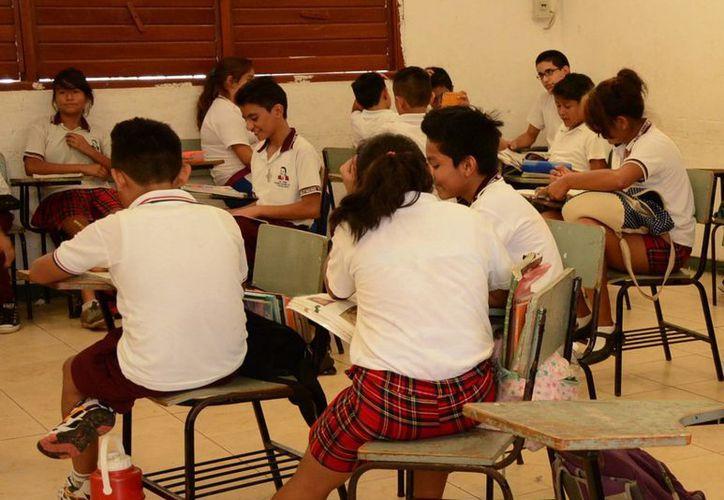 Cuentan con seguro escolar los niños inscritos en algún plantel de educación básica. (Victoria González/SIPSE)