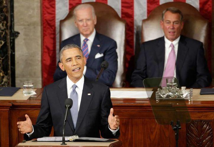 Imagen del 20 de junio de 2015, del presidente Barack Obama durante su informe del Estado de la Unión Americana, en el Capitolio. (AP Photo/J. Scott Applewhite)