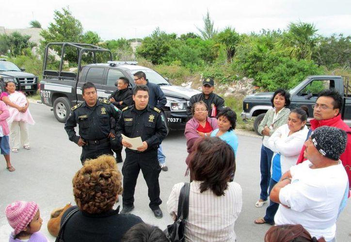 La Policía Vecinal permite conocer la problemática de la comunidad. (Manuel Pool/SIPSE)