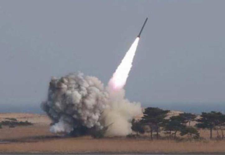 El proyectil fue lanzado desde una zona cercana a la base de misiles de largo alcance. (Foto: Contexto/Internet)