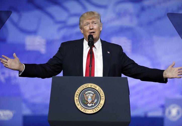 Esta noche, el presidente de Estados Unidos, Donald Trump, dará su primer mensaje ante el Congreso. (AP Photo/Alex Brandon)