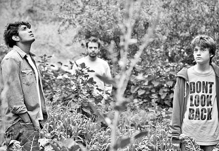 Los tres protagonistas de la historia: Tenoch Huerta, Leonardo Ortizgris y Sebastián Aguirre. (Milenio)