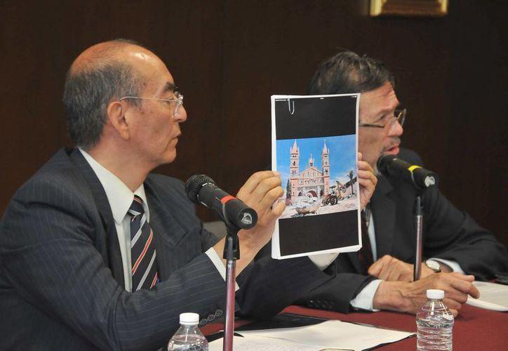 El coordinador nacional de Monumentos Históricos del INAH, Arturo Balandrano Campos, reprobó la destrucción de la capilla del Santo Cristo en San Pablo del Monte, en Tlaxcala. (Cortesía/INAH)