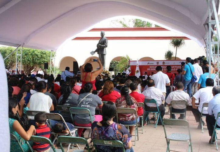 Se llevó a cabo un evento por el XCII aniversario luctuoso de Felipe Carrillo Puerto. (Ángel Castilla/SIPSE)